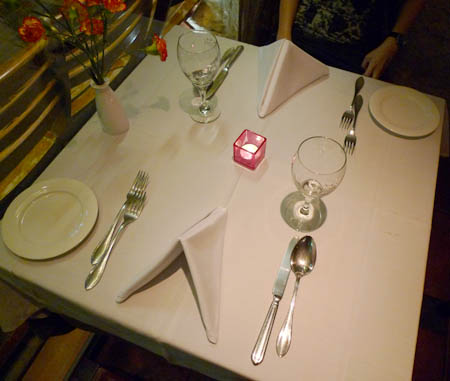 Russian Ala-carte Table Setting : Table Setting