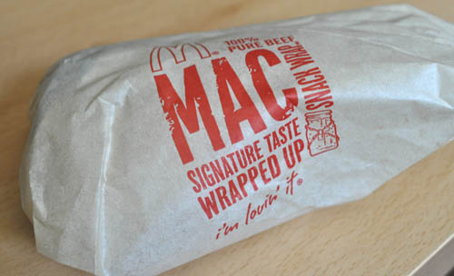 McDonalds Mac Wrap (Anywhere in the United States)