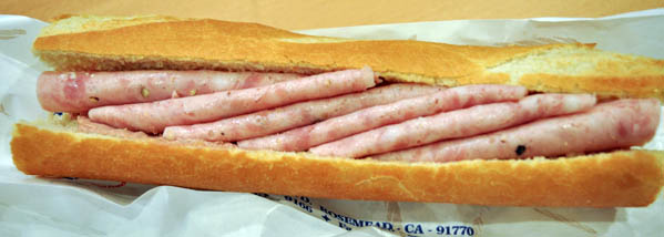Bologna = Sausage in Vietnamese sandwich shops, thin sliced huge sausage.