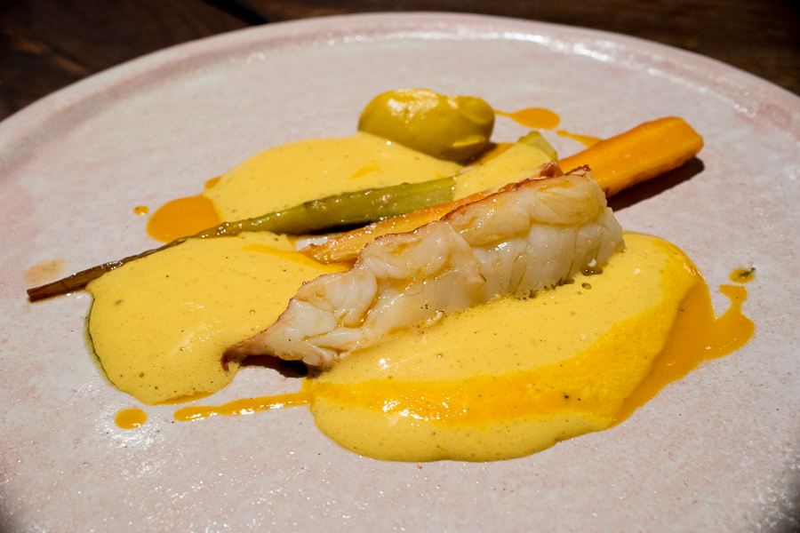 lobster - carrot sauce